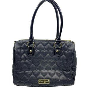 BETSEY JOHNSON Faux Leather Embellished Tote Bag
